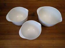Rosti Melamine 3 Pc White Bowl Set Denmark Sigvard Bernadotte Og Acton Bjorn VGD