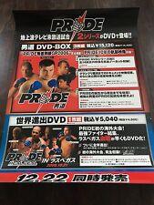 PRIDE FC DVD Release Poster, Rare, Pinholes, Not Mint, UFC, MMA, Fedor, Cro Cop