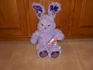 "18"" BUILD A BEAR JAMMIN' PURPLE BUNNY RABBIT MUSIC NOTE STUFFED ANIMAL PLUSH TOY"