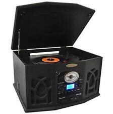 PTCDS7UIB Retro Turntable& CD/MP3/Casette/Radio/USB/SD Aux/Vinyl-to-MP3 Encoding