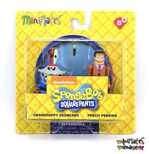 Spongebob Squarepants Minimates Series 1 Grandpappy Redbeard & Perch Perkins