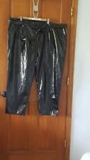 WHO WHAT WEAR BLACK SHINY PLEATHER POLYURETHANE PANTS TROUSERS SZ 26W, NWT,