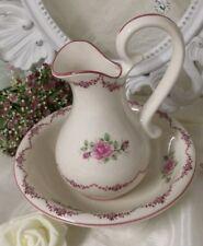 Waschgarnitur Lavabo Waschschüssel Roses Krug 2 tlg. Bad Shabby Chic Vintage