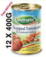 Valfrutta Chopped 100% Authentic Italian Tomatoes, 12 X 400G - Choose variety