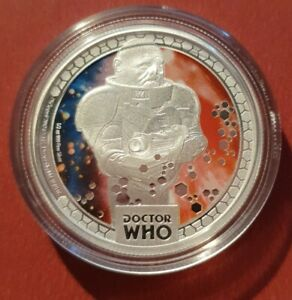 2014 $1 Doctor Who Monsters Sontarans 1/2oz Silver Proof Coin