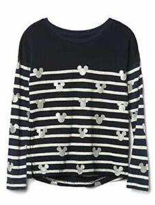 NEW GAP Kids Girls 2 PC DISNEY MICKEY MOUSE Shirt and Leggings Silver XL12 $60