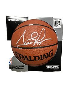 Scottie Pippen signed NBA Ball  W/COA Bulls Spalding