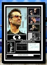 More details for (93) george michael signed unframed/framed photograph (reprint) great gift @@@@