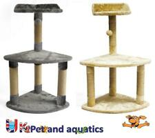 Cat Scratching Post With Bed 82cm High Grey or Beige