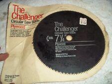 """NOS DISTTON THE CHALLENGER 7-1/4"""" CIRCULAR SAW BLADE CP714 PLYWOOD BLACK&DECKER+"""