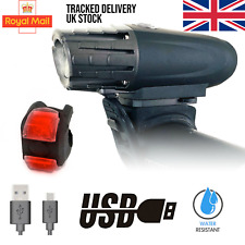 MTB LED Bright Front Rear USB Rechargeable Light for Bike eBike Electric Scooter