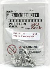 Knuckleduster KWR-87103 HO Scale Wagon Passengers (Pack of 6) Old West Civilians