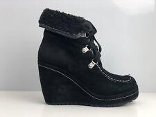 Rocket Dog Brisa Women's Black Suede Wedge Ankle Boot UK Size 4