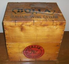 Vintage wooden wine crate box - Bolla Italian Wine Cellar