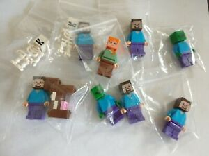 LEGO Minecraft Minifigures - Select Your Character, Steve, Alex, Creeper, Zombie