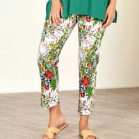 Soft Surroundings Women's Size Large In Bloom Floral Skinny Ankle Pants EUC