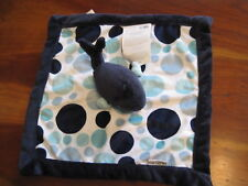 New NWT Carter Navy Blue Polka Dot Whale Security Blanket Blankie Lovey