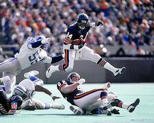 WALTER PAYTON FLIGHT 34 (c.1986) Chicago Bears Premium NFL Action POSTER Print