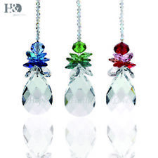 3pcs Handmade Colorful Crystal Suncatcher Engarved Prism Wedding Pendant Hang