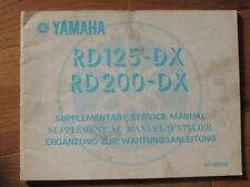 Yamaha Twin RD 125 DX 200 Wartungsanleitung Manual Manuel D´átelier Ergänzung