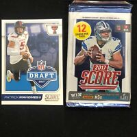 1 Unopened 2017 Score Football Pack🔥Possible Patrick Mahomes Rookie🔥