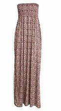 New Ladies Plus Size Long Summer Bandeau Strapless Gathering Beach Maxi 8-26