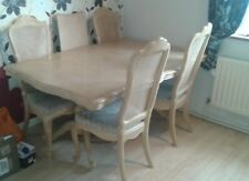 BARGAIN Ornate dining table with 4 chairs to clear (Needs small renovation work)