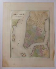 New-York carte map Etats-Unis United States National Atlas 1838