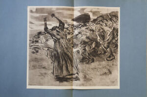 KÄTHE KOLLWITZ - TURMOIL * RARE  GERMAN ART PRINT1913