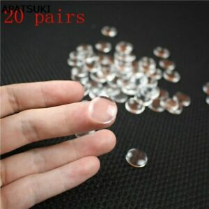 20pairs/lot Glass Eye Chips For Blythe Doll Transparent 14mm Patch Pupils Eyes