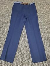 McGregor Men's Blue Dress Pants w/Belt Size 38x32--NWT