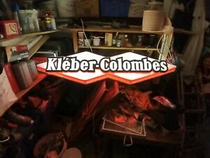 Enseigne lumineuse garage Kléber Colombes  plaque émaillée Loft indus emaischild