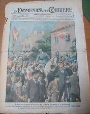 LA DOMENICA DEL CORRIERE 08/08/1920 re Cristiano X Danimarca ORIGINALE D'EPOCA