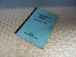 Fanuc 11M Operation Manual by OKK Osaka Kiko Co (17353)