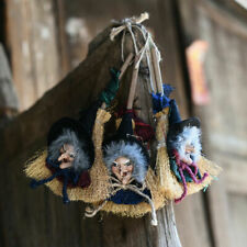Halloween Party Door Hanging Decorations Scary Witch Broom Doll Pendent Horror