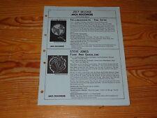 MCA RECORDS RELEASE 7/1989 / PROMO-HEFT: STEVE JONES, LILLIAN AXE, HUBERT KAH