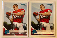 2019 Panini Donruss Rated Rookie #326 Andy Isabella (2x) Lot- Fresh Pulls