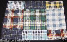 Home Classics Plaid Standard Pillow Sham blue green yellow plaid nwop #14
