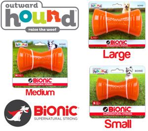 Outward Hound Bionic Strong Tough Dog Bone Chew Toy Holds Treats Snack BPA Kong