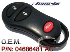 2001 2002 2003 DODGE DURANGO KEYLESS ENTRY REMOTE OEM KEY FOB P/N: 04686481 AC