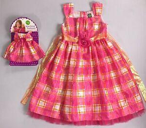 Girl's Youth Dollie & Me Spring Sleeveless Dress plus Doll Dress