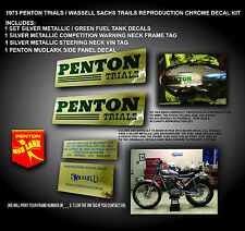 1973 Penton Trials, Wassell Sachs, Mudlark, Fuel Tank, Vin Decal Graphics