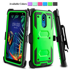 For LG K40 Xpression Plus Harmony 3 Shockproof Case With Kickstand Holster Clip
