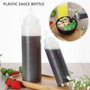 Kitchen Reusable Squeeze Bottle Camping Squeeze Sauce Bottle Container Dispenser