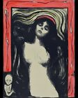 Print - Madonna (ca. 1895–1896) by Edvard Munch. Nude/Risque