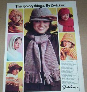 1976 print ad - Zwicker Knitting Mills hats Janye Modean Appleton Wisconsin page