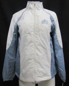 Colorado Avalanche NHL Women's Full Zip Windbreaker Jacket White Blue