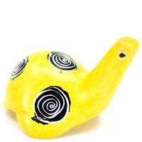 Tabaka Chigware Hand Carved Kisii Soapstone Tiny Miniature Yellow Turtle Figure
