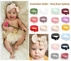 Baby Nylon Soft Bow Head Wrap, Soft Top Knot Baby Headband Girl Accessories