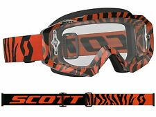 MASCHERA MASCHERINA MX CROSS SCOTT MX GOGGLE HUSTLE ARANCIO FLUO NERO ANTIFOG